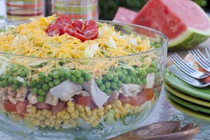 Rainbow Stacked Salad