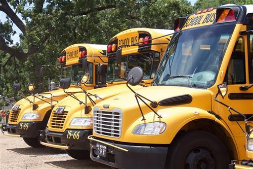 Clinton public school district busses
