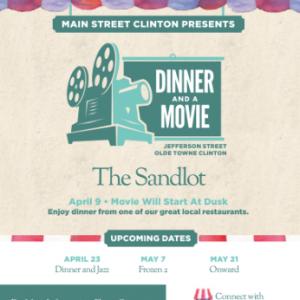Main Street Clinton Dinner and a movie