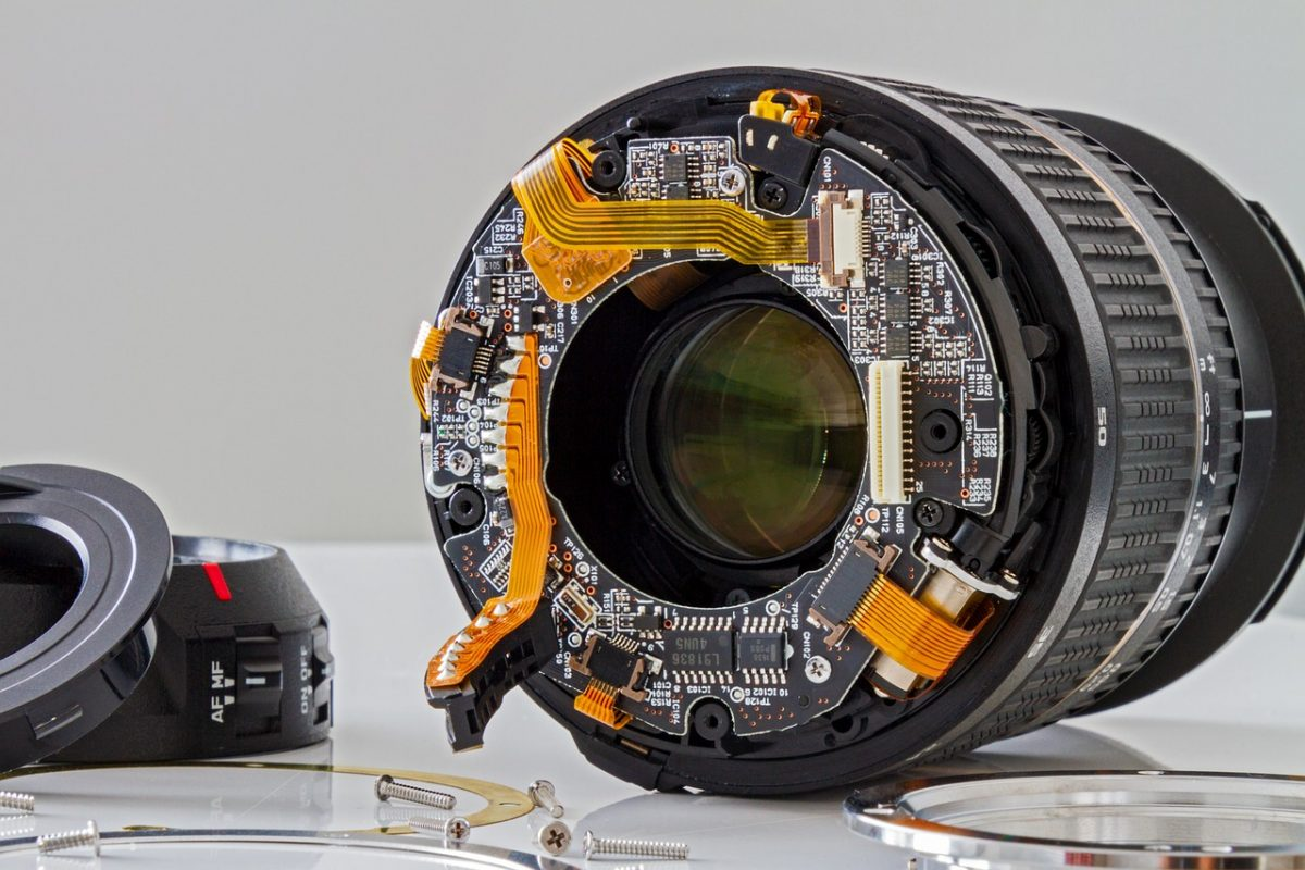 inside of a camera lends