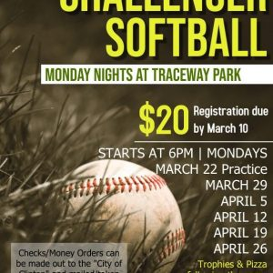 Challenger Softball league registration form clinton ms