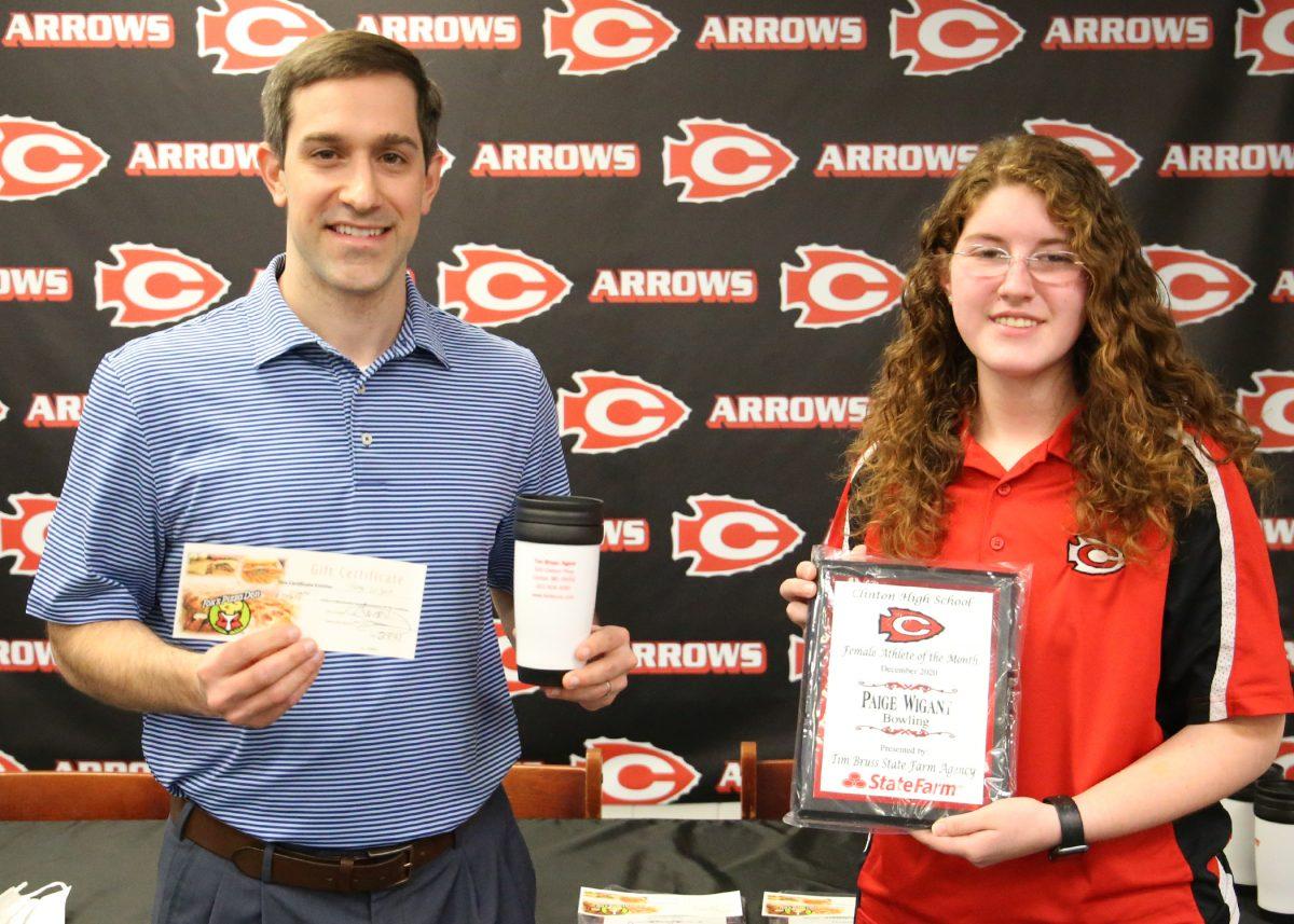 Paige wigant clinton arrows award
