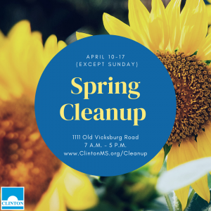 city of clinton spring cleanup