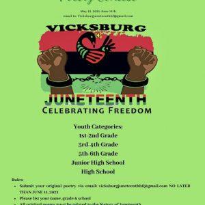 Vicksburg Juneteenth poety contest