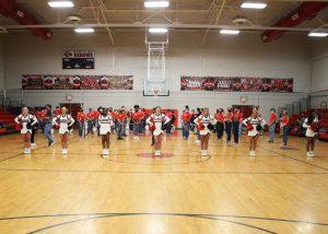 Clinton High School cheerleaders