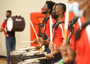 clinton high school drummers