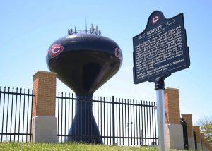 roy Burkett field commemorative marker dedication