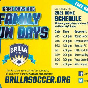 brilla 2021 schedule