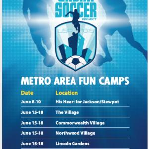 brilla soccer ministries fun camp