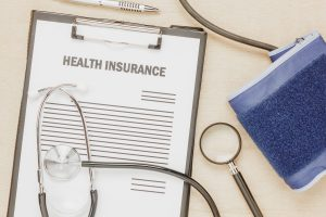 view of health insurance form with pulse gauge