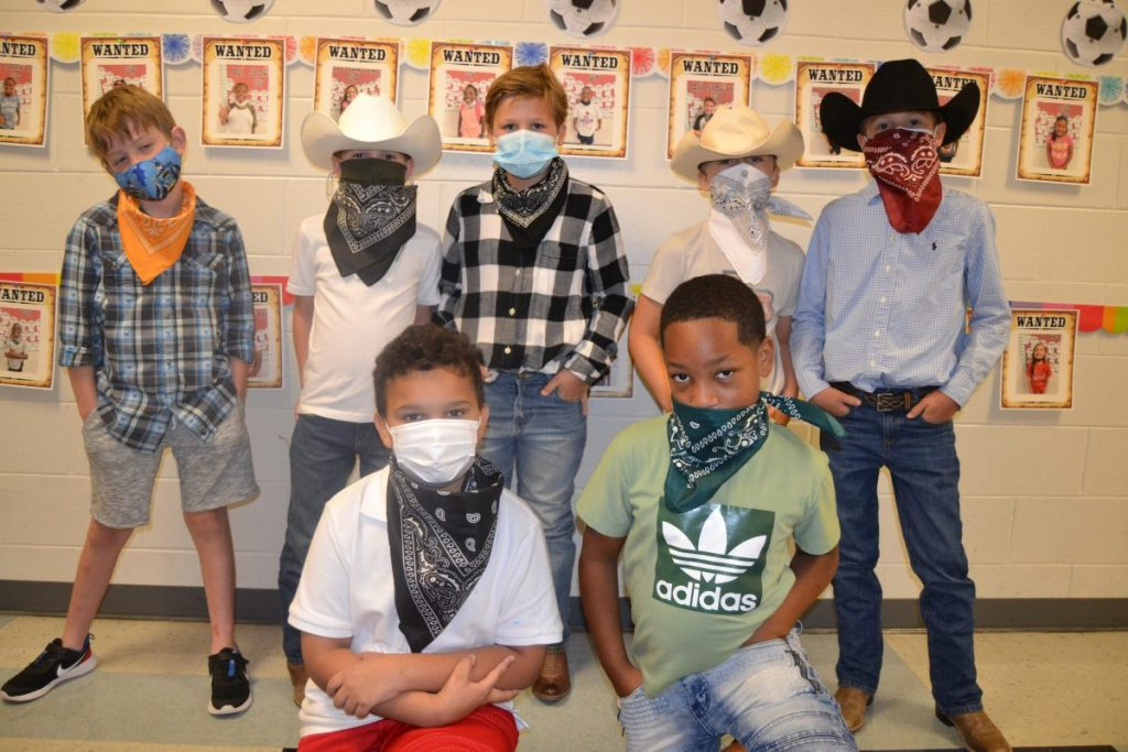 Pictured (l to r) are, front row: Aiden Vance and Terrance Marshall; and back row: Vaughn Strum, Rhodes Wilson, Brody Cox, Pierce Davis and Case Peterson.