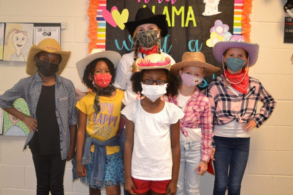 Pictured (l to r) are, front row: Kaylin Williams, Raven Gaddis, Addison Durrell, Layla Peterson and Riley Robinson; and back row: Mrs. Doan.