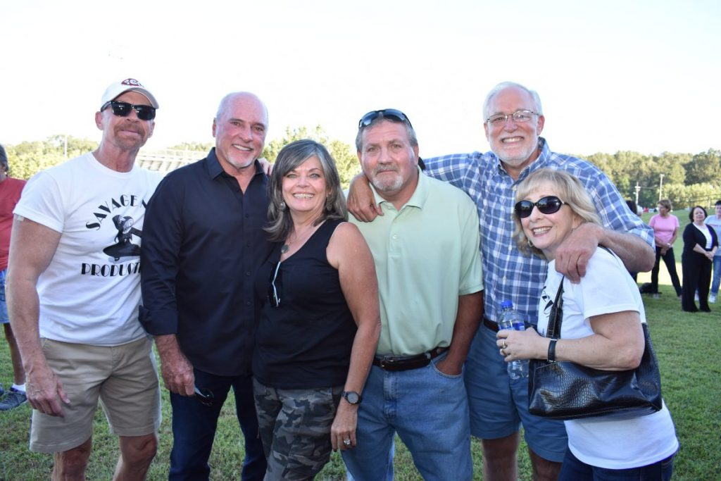 Nash Nunnery '73, Johnny Everett '74, Viki Goodrum Farrow '76, Gary Ferreri '77, Charlie Elliott '75 and Kathy Keene Giordano '76
